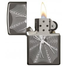 Зажигалка ZIPPO Classic с покрытием Black Ice®, латунь/сталь, чёрная, глянцевая, 36x12x56 мм 29733