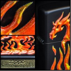 Зажигалка ZIPPO Classic с покрытием Black Matte, латунь/сталь, чёрная, матовая, 36x12x56 мм 29735