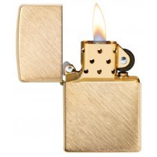 Зажигалка ZIPPO Classic с покрытием Herringbone Sweep Brass, латунь/сталь, золотистая, 36x12x56 мм 29830