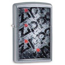 Зажигалка ZIPPO Diamond с покрытием Street Chrome™, латунь/сталь, серебристая, матовая, 36x12x56 мм 29838