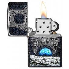 Зажигалка ZIPPO Armor™ с покрытием Galaxy Stardust, латунь/сталь, чёрная, глянцевая, 37х13x58 мм 29862