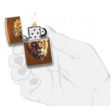 Зажигалка ZIPPO Polygonal Lion с покрытием Toffee™, латунь/сталь, медная, матовая, 36x12x56 мм 29865