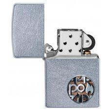 Зажигалка ZIPPO Button с покрытием Street Chrome™, латунь/сталь, серебристая, матовая, 36x12x56 мм 29872