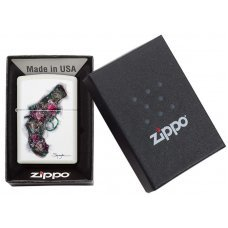 Зажигалка ZIPPO Classic с покрытием White Matte, латунь/сталь, белая, матовая, 36x12x56 мм 29894