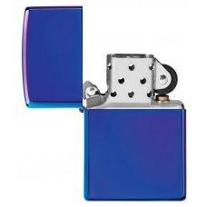 Зажигалка ZIPPO Classic с покрытием High Polish Indigo, латунь/сталь, синяя, глянцевая, 36x12x56 мм 29899