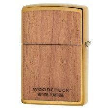 Зажигалка ZIPPO WOODCHUCK с покрытием Brushed Brass, латунь/сталь/, золотистая, матовая, 36x12x56 мм 29901