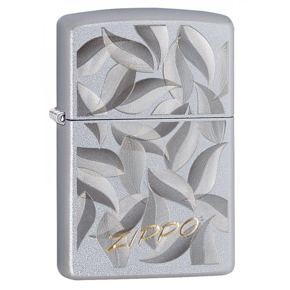 Зажигалка ZIPPO с покрытием Satin Chrome, латунь/сталь, серебристая, матовая, 36x12x56 мм 29908