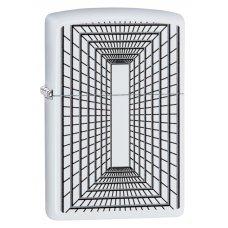 Зажигалка ZIPPO с покрытием White Matte, латунь/сталь, белая, матовая, 36x12x56 мм 29916