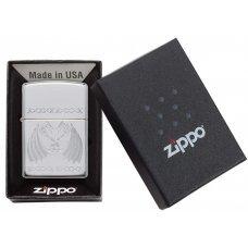 Зажигалка ZIPPO Dancing Dragons с покрытием High Polish Chrome, латунь/сталь, серебро, 36x12x56 мм 29988