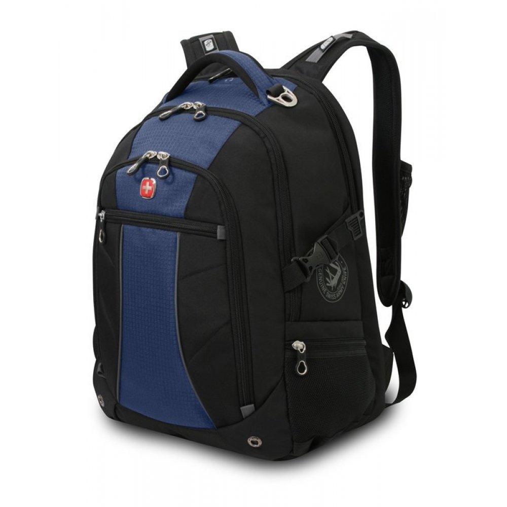 """Рюкзак WENGER,15"""", синий/чёрный, полиэстер 900D/рипстоп, 36x19x47 см, 32 л 3118302408"""