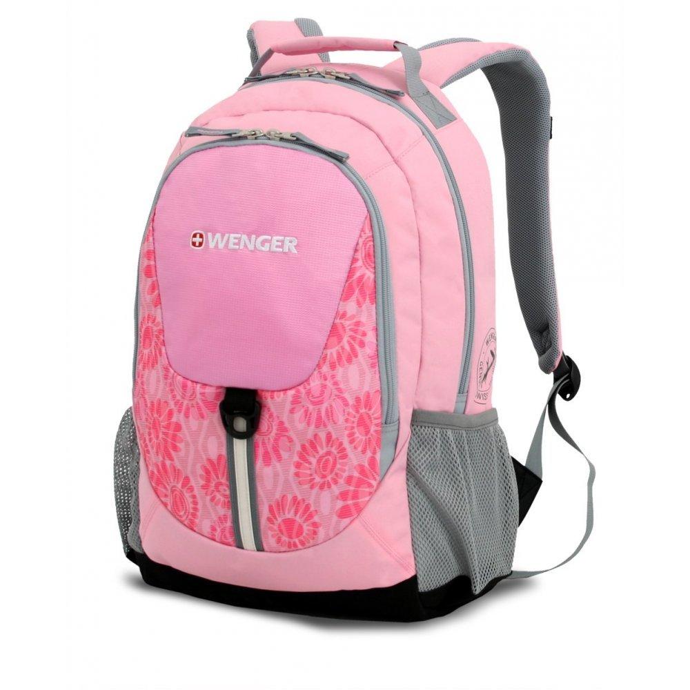 Рюкзак WENGER, розовый/серый, полиэстер 600D, 32х14х45 см, 20 л 31268415