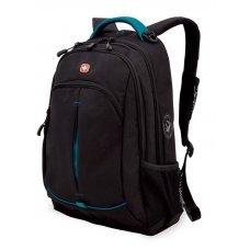 Рюкзак WENGER, черный/бирюзовый, фьюжн/2 мм рипстоп, 32x15x46 см, 22 л 3165206408-2