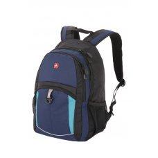 Рюкзак WENGER, 15, синий/черный/бирюзовый, полиэстер 600D/2 мм рипстоп/фьюжн, 33x15x45 см, 22 л 3191203408