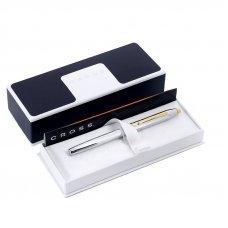 Перьевая ручка Cross Century II. Цвет - серебристый с золотистой отделкой. 3309-FF