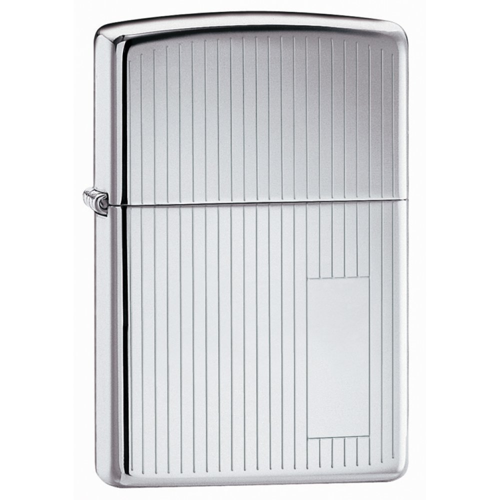 Зажигалка ZIPPO Classic с покрытием High Polish Chrome, латунь/сталь, серебристая, 36x12x56 мм 350