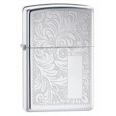 Зажигалка ZIPPO Venetian® с покрытием High Polish Chrome, латунь/сталь, серебистая, 36x12x56 мм 352
