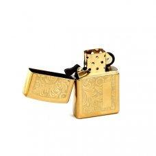 Зажигалка ZIPPO Venetian® с покрытием High Polish Brass, латунь/сталь, золотистая, 36x12x56 мм 352B