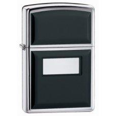 Зажигалка ZIPPO Black Ultralite® с покрытием High Polish Chrome, латунь/сталь, 36x12x56 мм 355
