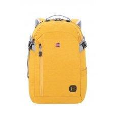 Рюкзак WENGER 15, желтый, ткань Grey Heather, 31x20x47 см, 29 л 3555247416