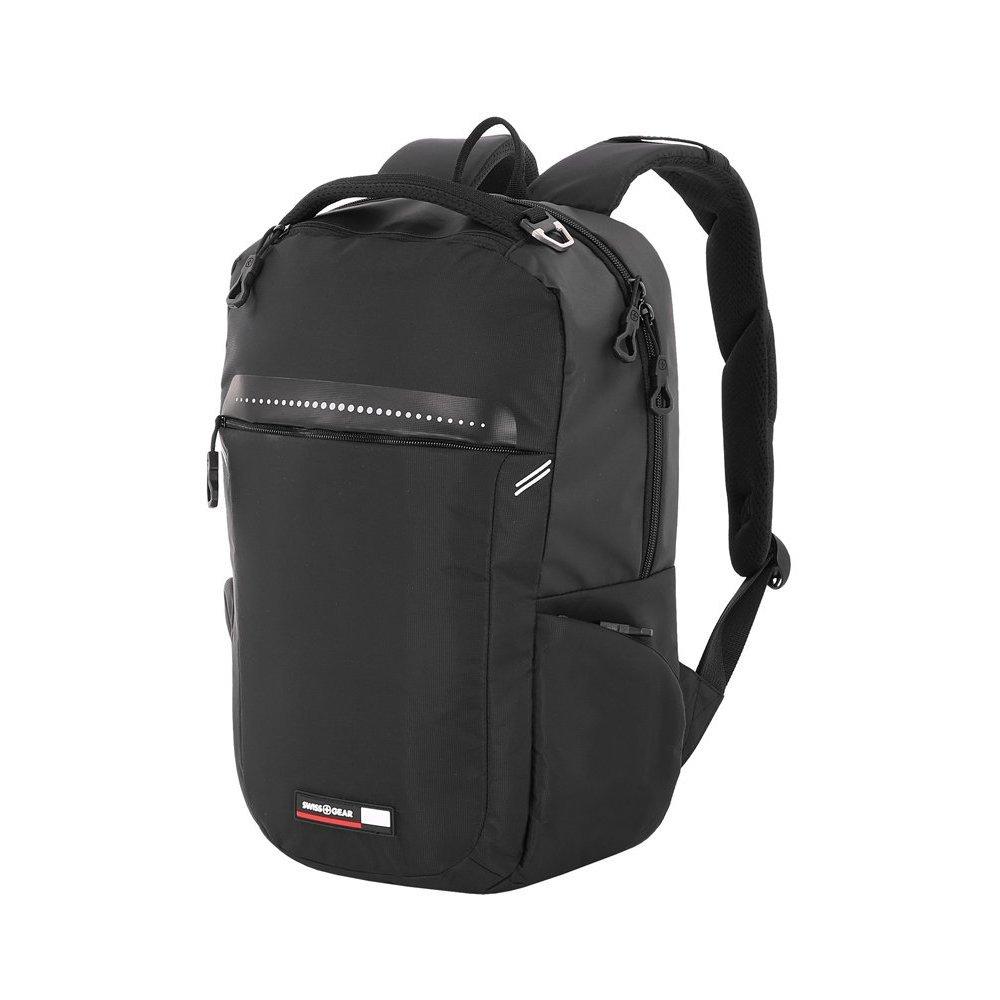 Рюкзак SWISSGEAR 14, черный, полиэстер 600D, 30 x 14.5 x 43 см, 19 л 3628202406