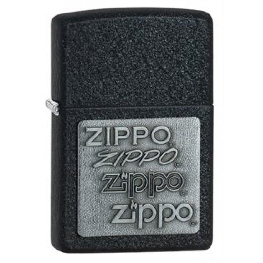 Зажигалка ZIPPO Classic с покрытием Black Crackle™, латунь/сталь, чёрная, матовая, 36x12x56 мм 363