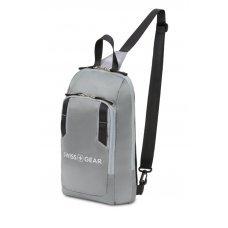 Рюкзак SWISSGEAR с одним плечевым ремнем, темно-серый/серый, полиэстер рип-стоп, 18 x 5 x 33 см, 4 л