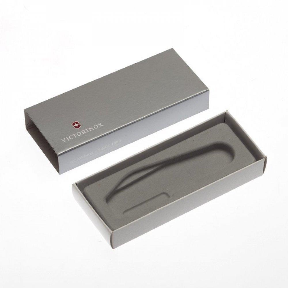 Коробка для ножей VICTORINOX 84 мм толщиной 1-2 уровня, картонная, серебристая 4.0036.07