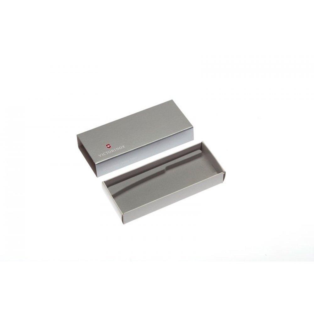 Коробка для ножей VICTORINOX 111 мм толщиной до 2 уровней, картонная, серебристая 4.0084