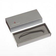 Коробка для ножей VICTORINOX 91 мм толщиной до 2 уровней, картонная, серебристая 4.0136.07