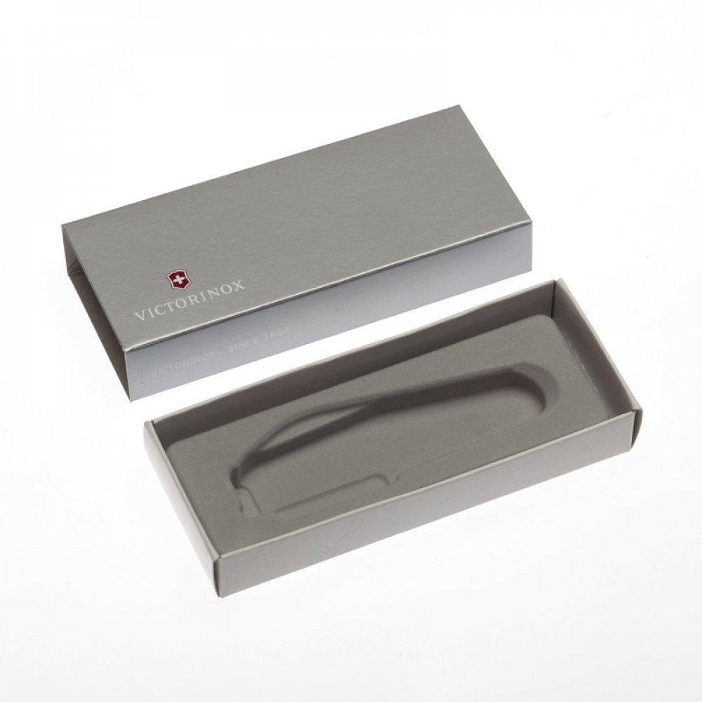 Коробка для ножей VICTORINOX 91 мм толщиной до 3 уровней, картонная, серебристая 4.0137.07