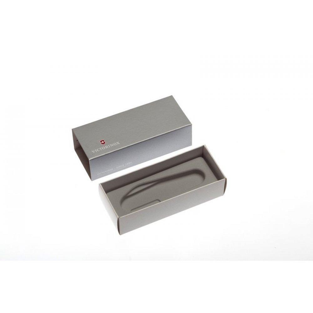 Коробка для ножей VICTORINOX 91 мм толщиной 6-7 уровней (1.6795, 1.7775.T), картонная, серебристая 4.0139