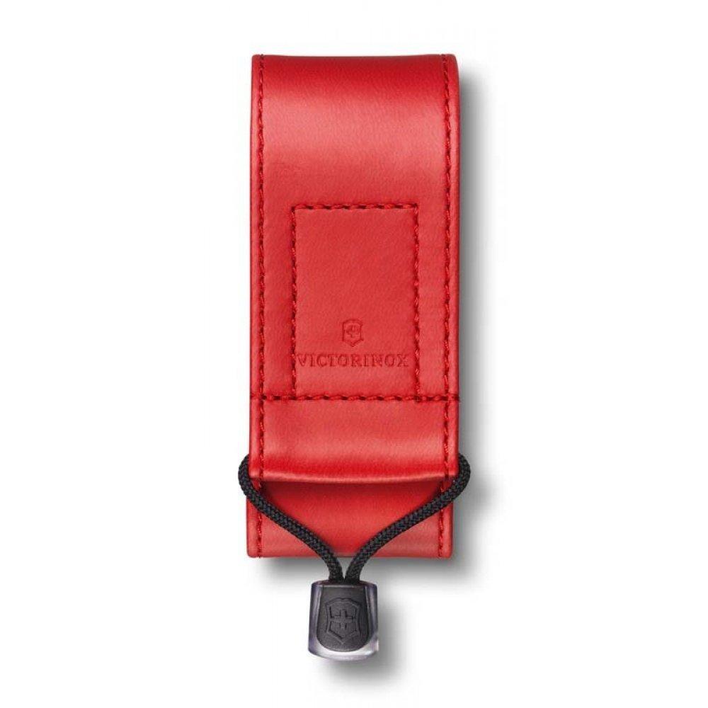 Чехол на ремень VICTORINOX для ножей 91 мм и 93 мм  2-4 уровня, из кожзаменителя, красный 4.0480.1