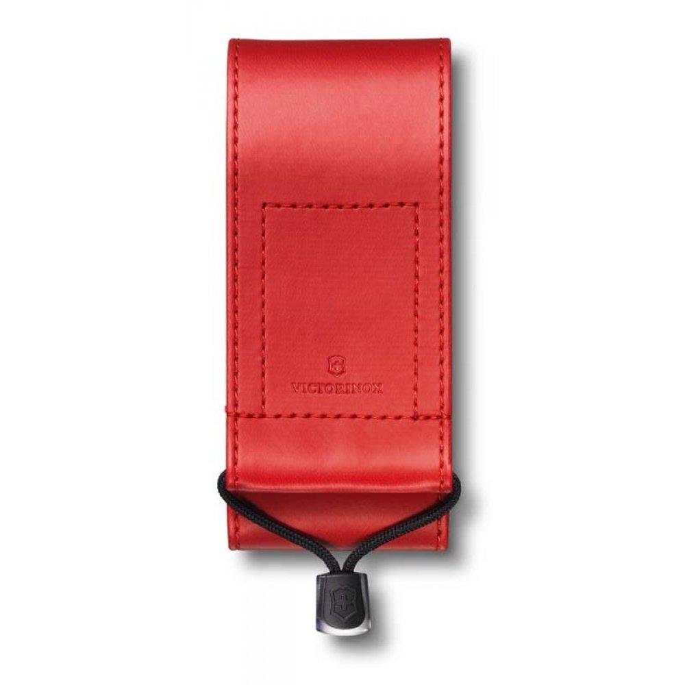 Чехол на ремень VICTORINOX для ножей 111 мм толщиной 3 уровня и SwissTool, из кожзаменителя, красный 4.0482.1