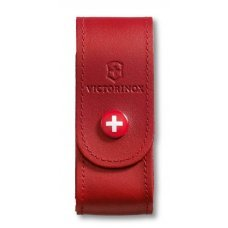 Чехол на ремень VICTORINOX для ножей 91 мм толщиной 2-4 уровня, кожаный, красный 4.0520.1