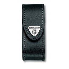 Чехол на ремень VICTORINOX для ножей 91 мм толщиной 2-4 уровня, кожаный, чёрный 4.0520.3