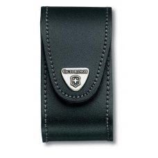 Чехол на ремень VICTORINOX для ножей 91 мм толщиной 5-8 уровней, с клипсой, кожаный, чёрный 4.0521.31