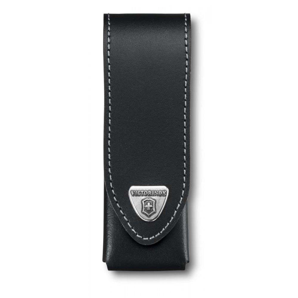 Чехол на ремень VICTORINOX для ножей 111 мм толщиной до 3 уровней, кожаный, чёрный 4.0523.3