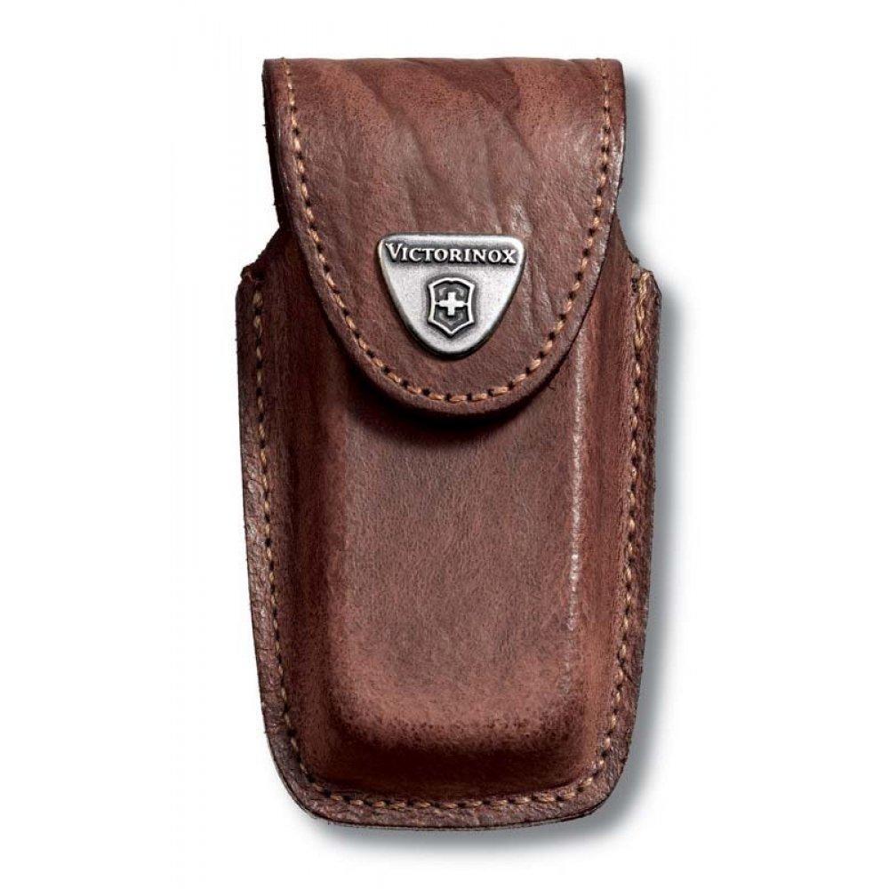 Чехол на ремень VICTORINOX для ножей 91 мм толщиной 5-8 уровней, кожаный, коричневый 4.0535