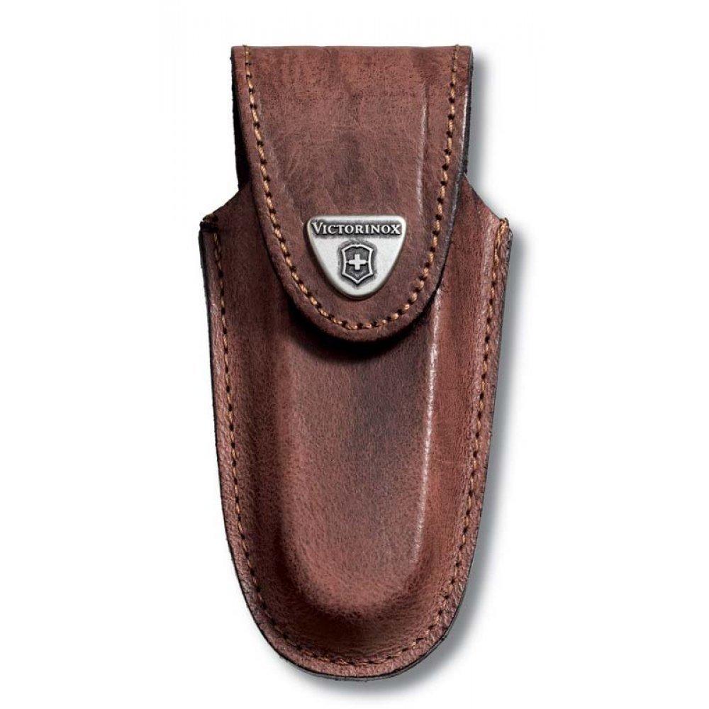 Чехол на ремень VICTORINOX для ножей 111 мм толщиной 2-3 уровня, кожаный, коричневый 4.0537