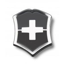 Значок VICTORINOX в форме креста на щите, металлический, чёрно-серебристый 4.1888.3