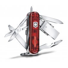 Нож-брелок Midnight Manager@work, 58 мм, с USB 3.0/3.1 16 Гб, 10 функций, полупрозрачный красный 4.6336.TG16