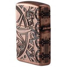 Зажигалка ZIPPO Armor™ с покрытием Antique Copper™, латунь/сталь, медная, матовая, 36x12x56 мм 49000