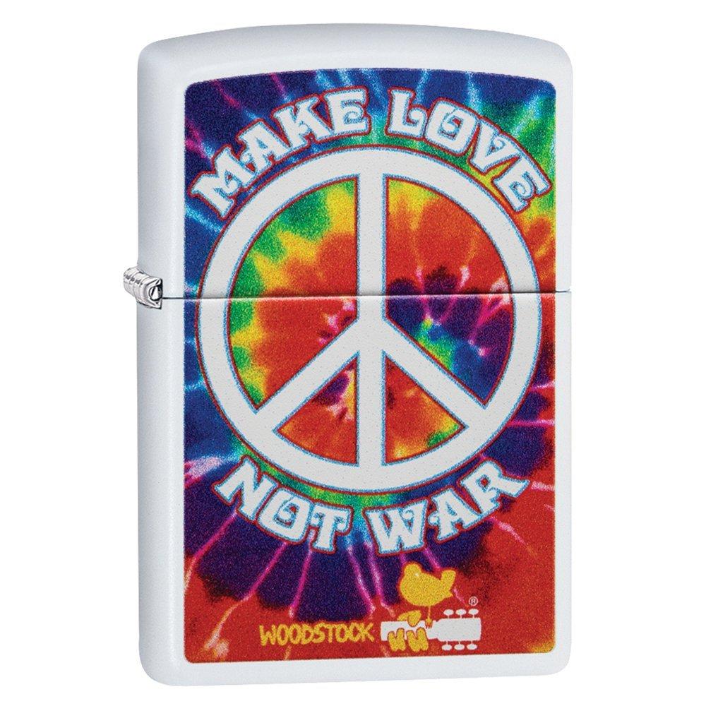 Зажигалка ZIPPO Woodstock® с покрытием White Matte, латунь/сталь, белая, матовая, 36x12x56 мм 49013