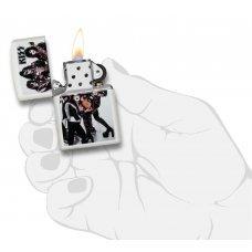 Зажигалка ZIPPO KISS® с покрытием White Matte, латунь/сталь, белая, матовая, 36x12x56 мм 49017