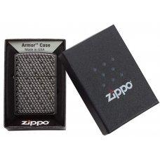Зажигалка ZIPPO Armor™ с покрытием Black Ice®, латунь/сталь, чёрная, глянцевая, 36x12x56 мм 49021