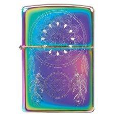 Зажигалка ZIPPO Dream Catcher с покрытием Multi Color, латунь/сталь, разноцветная, 36x12x56 мм 49023