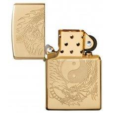 Зажигалка ZIPPO Classic с покрытием High Polish Brass, латунь/сталь, золотистая,  36x12x56 мм 49024