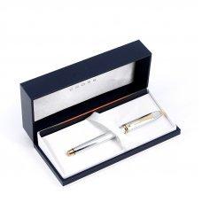 Ручка-роллер Selectip Cross Townsend. Цвет - серебристый с золотистой отделкой. 505