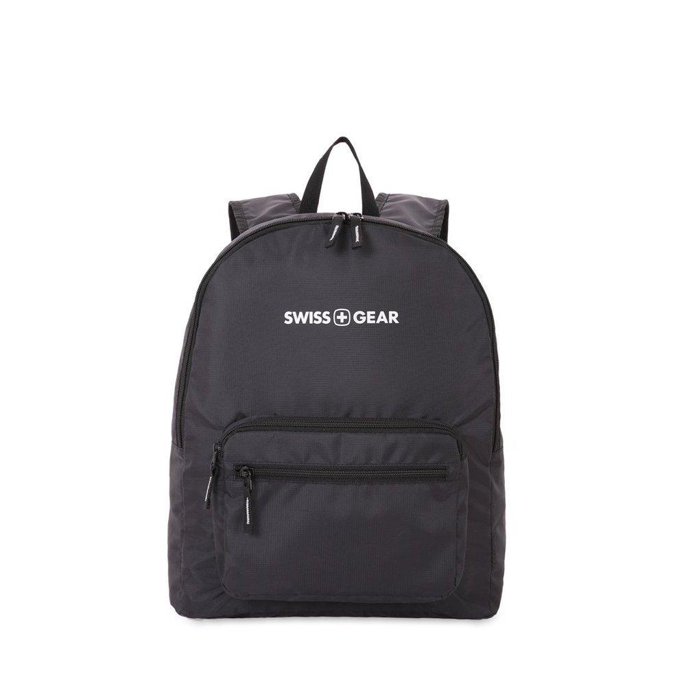 Рюкзак SWISSGEAR складной, черный, полиэстер, 33.5х15.5x40 см, 21 л 5675202422