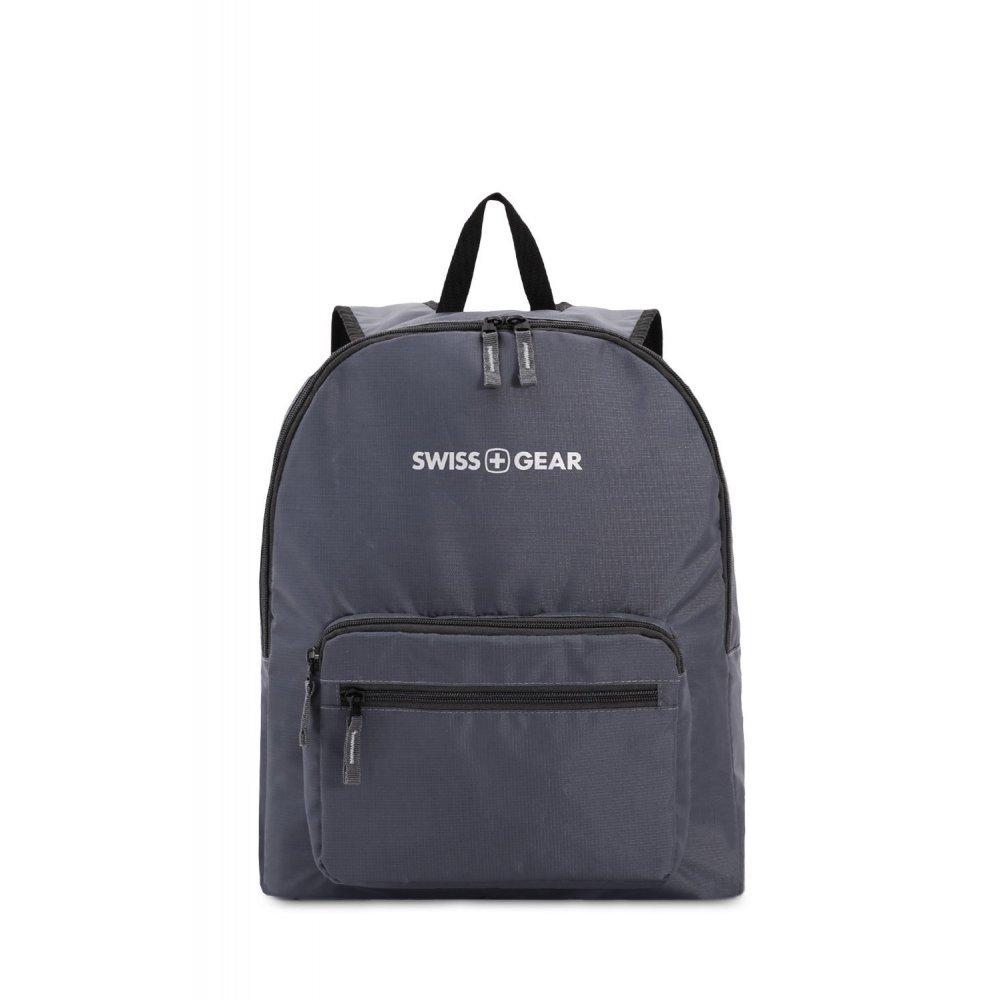 Рюкзак SWISSGEAR складной, серый, полиэстер, 33.5х15.5x40 см, 21 л 5675444422